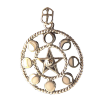 Pentacle w/Moon Phases .925 - 3952
