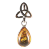 Celtic Trinity with Amber Drop .925- 3386