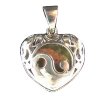 Ying Yang Heart Locket w/ Heart stone - 3474
