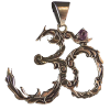 Om - Leaves w/ Amethyst - 3695