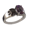 Peace Ring w/Amethyst .925 - 3697