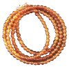 Chain - Carnelian Orange beads 3mm - 3791