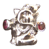 Ganesha - Ring - With Rhodonite - 3972