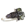 Turtle Ring w/ Peridot .925 - 3979