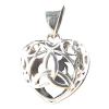 Celtic Trinity Heart Locket w/ Heart stone - 4050