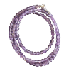 Necklace - Amethyst beads 3mm - 4149