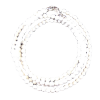 Necklace - Agate - White - 3 mm - 4178