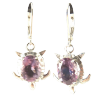 Turtle Earings w/ Amethyst .925 - 4188