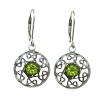 Celtic Raga Earrings w/ Peridot - 4194