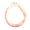 Chain - Faceted Pink Agate - 4281