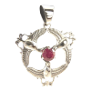 Celtic Trinity Dove w/ Ruby .925 - 4286