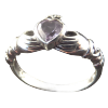 Celtic - Claddagh Ring w/Marcasite& Amethyst - 4290
