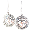 Om - Celtic Stencil Earrings .925 - 4297