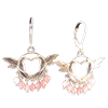 Humming Birds - Earrings w/ Pink Agate .925 - 4307