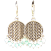Flower of Life - Earrings w/ Agate - 4308