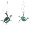 Turtle Malachite (MM) Earrings .925 - 4326
