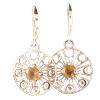 Moon Phase Earrings w/ Citrine - 4404