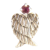 Angel Wings w/ Rhodonite .925 - 4409