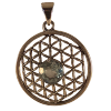 Flower of Life W/Topaz - 4412