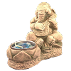 Ganesh Sitar Candle Holder - 4512