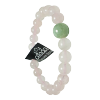 Jade Guru Bead w/ Rose Quartz - 4653