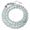 Necklace - Blue Lace Agate - 6mm - 4816