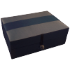 Jewellery Box - Blue Silk - Ribbon - Medium - 4824