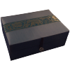 Jewellery Box - Blue Silk - Elephant - Medium - 4826