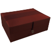Jewellery Box - Burgundy - Ribbon - Medium - 4828