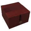 Jewellery Box - Burgundy - Ribbon - Small - 4833