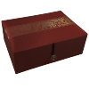 Jewellery Box - Burgundy Silk - Elephant - Medium - 4834