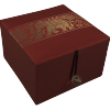 Jewellery Box - Burgundy Silk - Elephant - Small - 4835