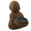 Monk Candle Holder Sitting - 4868