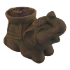 Elephant Sandstone Candle Holder - 4936