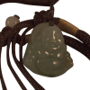 Necklace - Jade Happy Buddha on cord - 5027