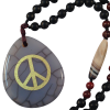 Necklace - Peace - Grey Spider Agate - 5233