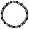 Amethyst  - Rhodium - 6mm - 5240