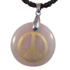 Disk Peace - Rose Quartz w/ Cord - 5361