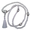 Mala Necklace - Ice Crystal/Howlite - 5399