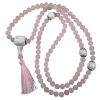 Mala Necklace - Rose Quartz/Howlite - 5405