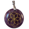 Disk Seed of Life - Amethyst - 5571