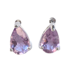 Amethyst Dewdrop Earrings .925 - 5847