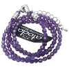 Necklace - Amethyst Faceted 6mm - 5895