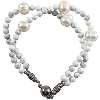 Pearl Howlite Double - 5979