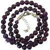 Amethyst 8mm Faceted Necklace - 6072