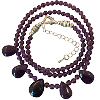 Amethyst Dewdop Necklace - 6073