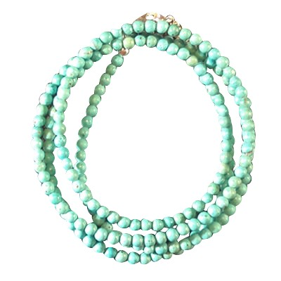 Necklace - Turquoise - Howlite beads 3mm - 3949