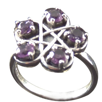 Pentacle Ring w/ Amethyst .925 - 4198