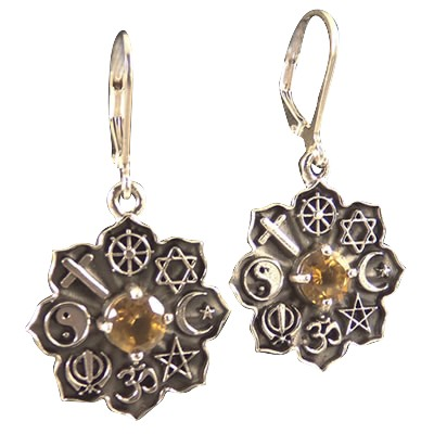Co-Exist- Earrings w/ Golden Citrine .925 - 4284