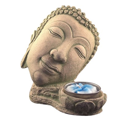Buddha's Head Candle Holder - 4395